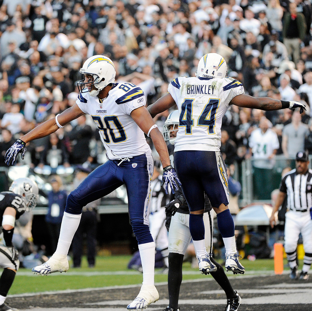 San Diego Chargers Game On Tv: Curtis Brinkley In San Diego Chargers V Oakland Raiders