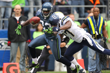 Deion Branch Paul Oliver San Diego Chargers v Seattle Seahawks