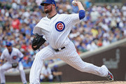 Starting pitcher Jon Lester #34 of the Chicago Cubs delivers the ball against the San Diego Padres at Wrigley Field on August 5, 2018 in Chicago, Illinois.