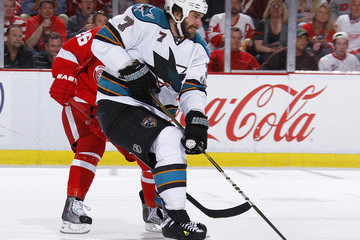 Niclas Wallin San Jose Sharks v Detroit Red Wings - Game Six