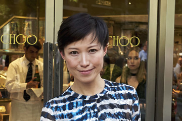 Sandra Choi Celebrities Attend Jimmy Choo Boutique Reopening in Madrid