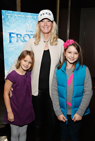 """The Cinema Society Hosts A Special Screening Of Walt Disney Animation Studios' """"Frozen"""" At The Tribeca Grand Hotel In New York [frozen,fashion,pink,youth,fun,event,headgear,child,performance,photography,leisure,sandra lee,ava hult,olivia hult,c,tribeca grand hotel,new york,cinema society hosts a special screening of walt disney animation studios,the cinema society,screening]"""