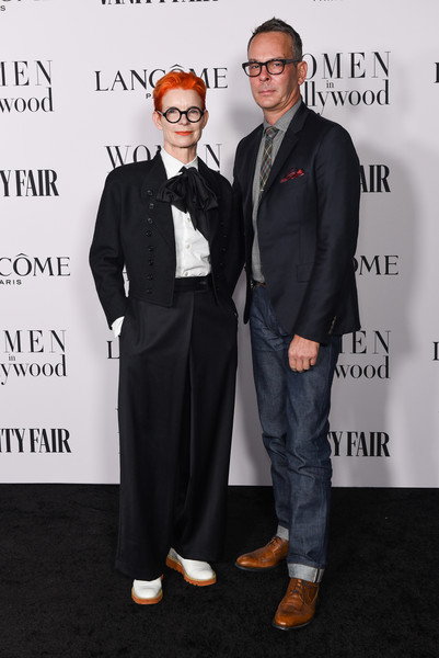 Vanity Fair and Lancôme Women In Hollywood Celebration [suit,fashion,premiere,event,formal wear,carpet,tuxedo,eyewear,white-collar worker,fashion design,sandy powell,christopher peterson,me women in hollywood,lanc\u00e3,west hollywood,california,soho house,vanity fair,lanc\u00f4me women in hollywood celebration,celebration,matthew koma,scott haze,americas got talent,united states,musician,celebrity,actor,film producer]