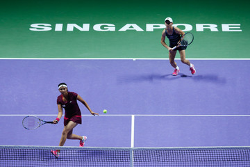 Sania Mirza BNP Paribas WTA Finals: Singapore 2014 - Day Six