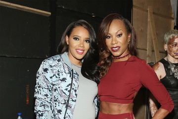 Sanya Richards-Ross Vipe Activewear Collection With Angela Simmons - Front Row - September 2016 Style360