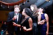 "(L-R) Actor Chris O'Dowd, actresses Miranda Tapsell, Shari Sebbens and Deborah Mailman attend ""The Sapphires"" after party during the 2012 Toronto International Film Festival at The Brandt House on September 9, 2012 in Toronto, Canada."