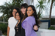 """Actresses Deborah Mailman,  Shari Sebbens, Miranda Tapsell and Jessica Mauboy  attend the """"The Sapphires"""" Photocall during the 65th Annual Cannes Film Festival at Palais des Festivals on May 20, 2012 in Cannes, France."""