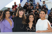 "Actresses Jessica Mauboy, Miranda Tapsell,  Shari Sebbens and Deborah Mailman attend the ""The Sapphires"" Photocall during the 65th Annual Cannes Film Festival at Palais des Festivals on May 20, 2012 in Cannes, France."