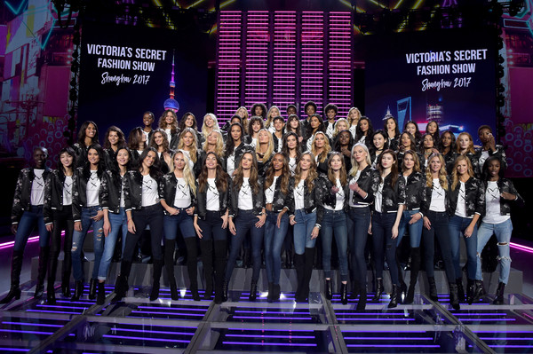 Victoria's Secret Fashion Show 2017 - All Model Appearance at Mercedes-Benz Arena [performance,event,choir,stage,team,performing arts,musical theatre,competition,music,crowd,models,adriana lima,alessandra ambrosio,candice swanepoel,martha hunt,romee strijd,mercedes-benz arena,victorias secret,model appearance,victorias secret fashion show]