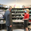 Sarah Burton The Prince Of Wales Visits The Royal Mail's Delivery Office And Corinum Museum