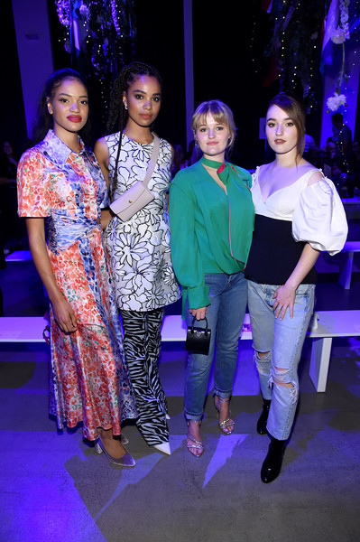 Prabal Gurung - Front Row - September 2019 - New York Fashion Week: The Shows [event,fashion,performance,fashion design,performing arts,stage,ceremony,prabal gurung,maddie dever,nesta cooper,kaitlyn dever,sarah cooper,front row,front row,l-r,shows,new york fashion week]