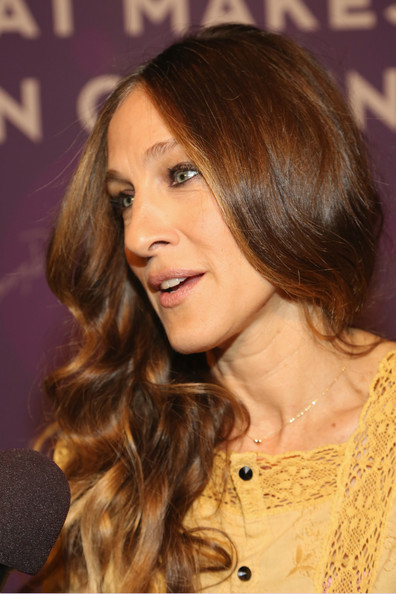 Arrivals at the Variety Power of Women Event — Part 3 [hair,hairstyle,face,brown hair,hair coloring,layered hair,long hair,eyebrow,chin,blond,arrivals,sarah jessica parker,variety power of women event,part,variety power of women: new york,new york city,cipriani 42nd street,fyi]