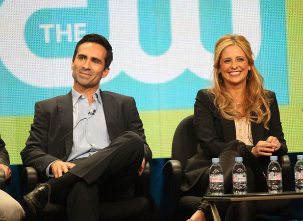 2011 Summer TCA Tour - Day 9 [ringer,event,yellow,news conference,conversation,human,convention,adaptation,businessperson,business,media,nestor carbonell,sarah michelle gellar,beverly hilton hotel,california,l,cw,summer tca,panel,portion]