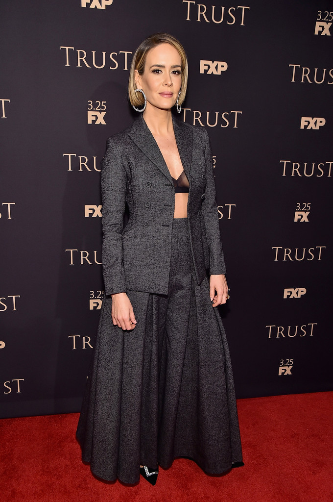Sarah Paulson attend the 2018 FX Annual All-Star Party at SVA Theater on March 15, 2018 in New York City.