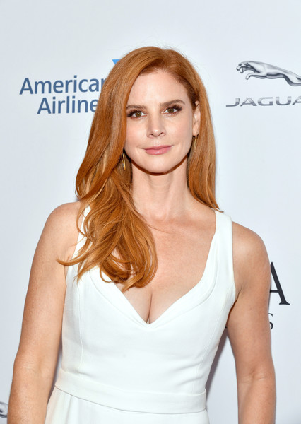BAFTA Los Angeles And BBC America TV Tea Party 2019 – Arrivals [hair,hairstyle,clothing,beauty,blond,shoulder,lip,brown hair,long hair,dress,arrivals,sarah rafferty,tea party,los angeles,beverly hills,california,the beverly hilton hotel,bafta,bbc,america tv]