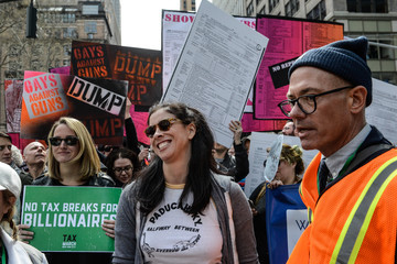 Sarah Silverman Tax Day Activists Hold Marches in Major U.S. Cities