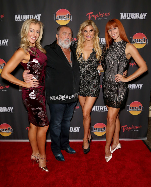 Murray The Magician Tropicana Hotel Laugh Factory Opening [murray the magician,red carpet,carpet,event,dress,premiere,little black dress,flooring,cocktail dress,norbert aleman,murray the magician,dancers,danielle flahive,tropicana,laugh factory,hotel,2nd l,opening]