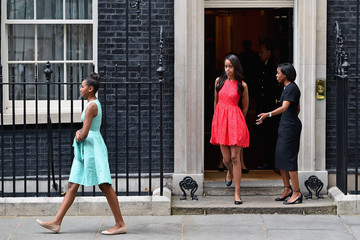 Sasha Obama Michelle Obama Pays a Visit to Downing Street During Her Brief London Visit