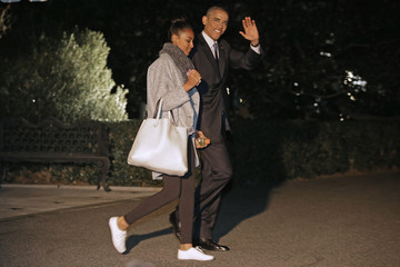 Sasha Obama The First Family Departs the White House