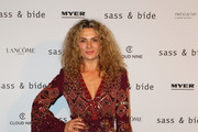 Danielle Cormack attends the Sass & Bide show at Mercedes-Benz Fashion Week Resort 18 Collections at Bay 22-24, Carriageworks on May 15, 2017 in Sydney, Australia.