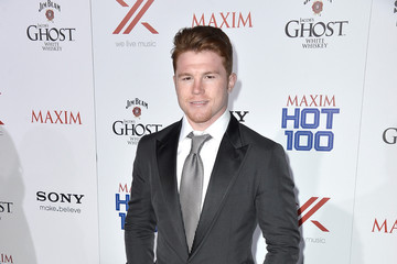 Saul Alvarez Celebs at the Maxim Hot 100 Party