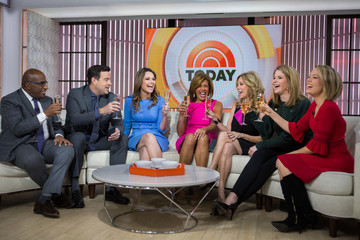 Savannah Guthrie Dylan Dreyer NBC's 'Today' With Guests Hoda Kotb, Start Today, And Bob Harper