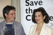"Spanish singer Alejandro Sanz and Bianca Jagger attend ""Save the Children"" awards press conference at ""Casa de America"" on June 21, 2011 in Madrid, Spain."