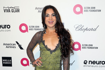 Saye Yabandeh Arrivals at the Elton John AIDS Foundation Oscars Viewing Party — Part 4