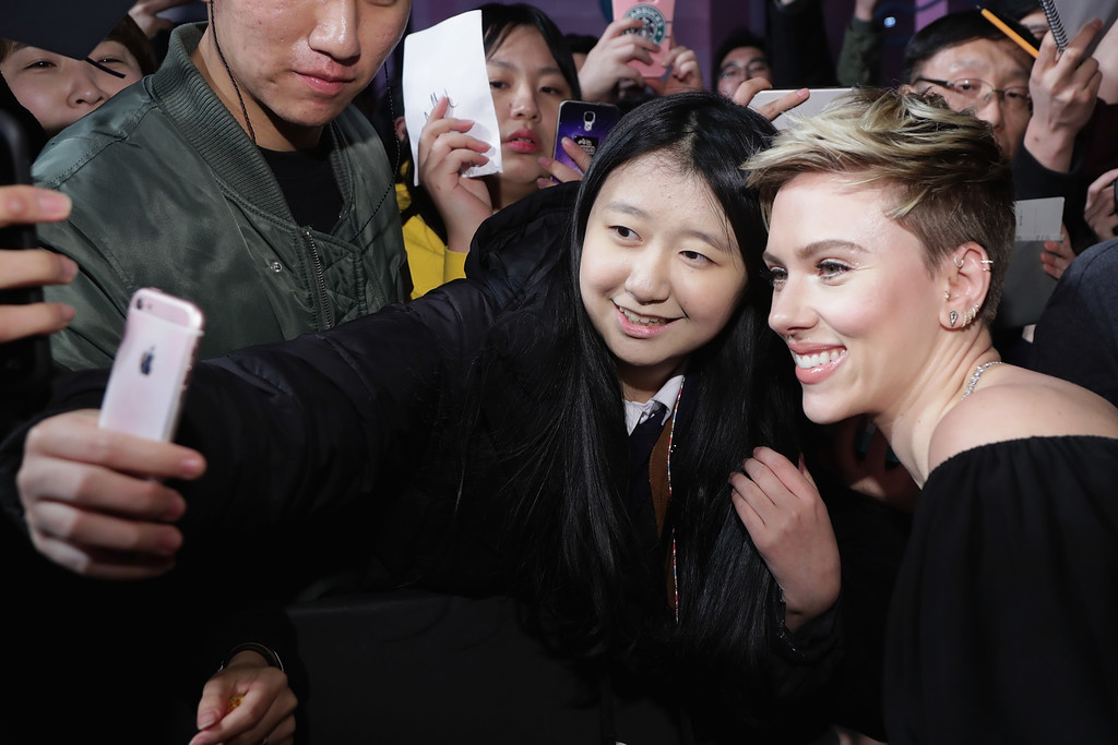 Scarlett Johansson at the Seoul Premiere of 'Ghost in the ...
