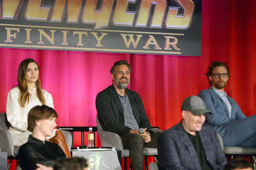 "Scarlett Johansson Kevin Feige ""Avengers: Infinity War"" Global Press Conference"