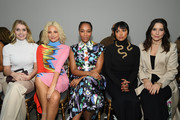 (L-R) Lady Kitty Spencer, Pixie Lott, Naomi Ackie, Kat Graham and Sophia Bush attend the Schiaparelli Haute Couture Spring/Summer 2020 show as part of Paris Fashion Week on January 20, 2020 in Paris, France.