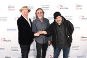 Jeff Ross, Jackson Browne and Dave Attell attend Scleroderma Research Foundation's Cool Comedy - Hot Cuisine New York 2018 at Caroline's on Broadway on December 11, 2018 in New York City.