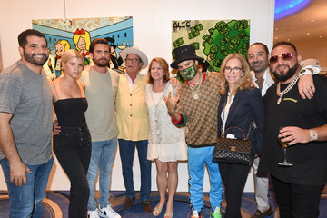 Scott Disick Alec Monopoly Haute Living's VIP Pop-Up Opening Of Alec Monopoly From Art Life And David Yarrow From Medal's Gallery