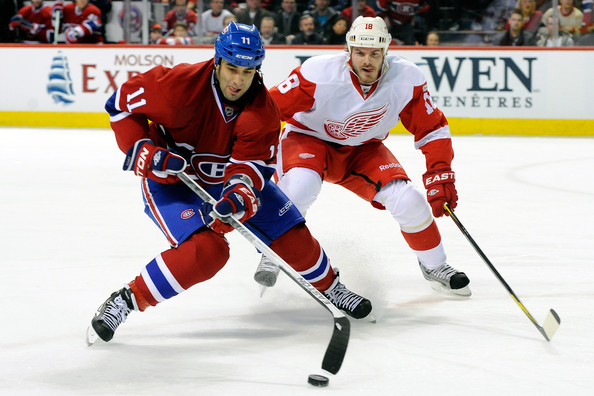 Scott Gomez - Detroit Red Wings v Montreal Canadiens