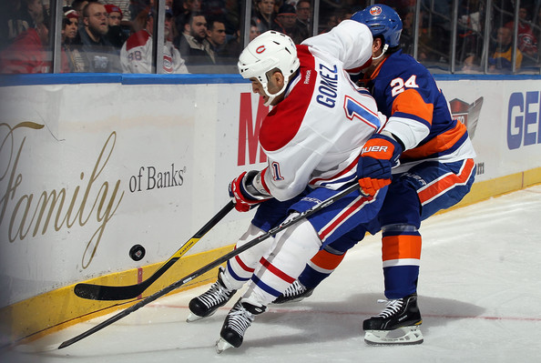 Scott Gomez - Montreal Canadiens v New York Islanders
