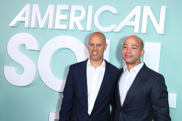 """BET's """"American Soul"""" Los Angeles Premiere [suit,font,white-collar worker,event,company,businessperson,real estate,business,smile,brand,jesse collins,president,scott mills,american soul,network,los angeles,california,bet,premiere,los angeles premiere]"""
