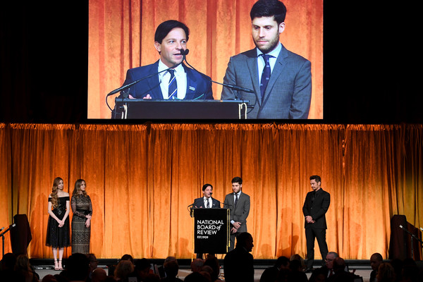 The National Board of Review Annual Awards Gala - Inside [event,public speaking,convention,performance,technology,academic conference,stage,speech,stage equipment,auditorium,james franco,writers,scott neustadter,michael weber,award,l-r,cipriani 42nd street,new york city,national board of review annual awards,national board of review annual awards gala]