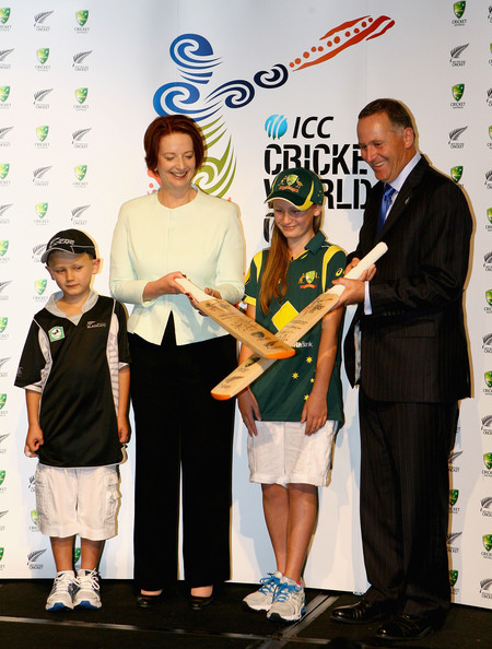 de Bohun at a press conference for the ICC Cricket World Cup 2015 ...