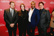 (L-R) Honorees Leonardo DiCaprio, Megan Ellison, Lee Daniels and Rob Marshall attend the Screen Actors Guild Foundation 30th Anniversary Celebration at Wallis Annenberg Center for the Performing Arts on November 5, 2015 in Beverly Hills, California.