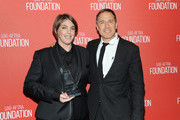Honoree Megan Ellison (L), recipient of the Patron of the Artists Award, and filmmaker David O. Rusell attend the Screen Actors Guild Foundation 30th Anniversary Celebration at Wallis Annenberg Center for the Performing Arts on November 5, 2015 in Beverly Hills, California.