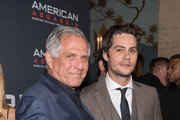 """CEO, CBS Corporation Leslie Moonves and  actor Dylan O'Brien arrive to the screening of CBS Films And Lionsgate's """"American Assassin"""" at TCL Chinese Theatre on September 12, 2017 in Hollywood, California."""