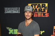 """Actor Oliver Hudson and his family attend the Screening of Disney XD's """"Star Wars Rebels: Spark of Rebellion"""" at the AMC Century City 15 theater on September 27, 2014 in Century City, California."""