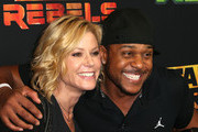 """Actress Julie Bowen (L) and actor Pooch Hall attend the Screening of Disney XD's """"Star Wars Rebels: Spark of Rebellion"""" at the AMC Century City 15 theater on September 27, 2014 in Century City, California."""