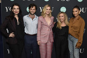 """Sera Gamble, Penn Badgley, Elizabeth Lail, Caroline Kepnes, and Shay Mitchell attend Screening Of Lifetime's """"You"""" Series Premiere on September 5, 2018 in New York City."""