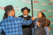 """Rev Run and the cast of 'All About The Washingtons""""  arrives to the screening of Netflix's """"All About The Washingtons"""" at Madera Kitchen & Bar on August 8, 2018 in Hollywood, California."""