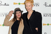 """Director Lynne Ramsay (L) and actress Tilda Swinton attend the Screening of Oscilloscope Laboratories' """"We Need To Talk About Kevin"""" at the Writers Guild Theater on November 10, 2011 in Beverly Hills, California."""