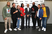 "(L-R) Jussie Smollett, Jenner Furst, Julia Willoughby Nason, Sybrina Fulton, Al Sharpton, Tracy Martin, Michael Gasparro and Chachi Senior attend the Screening And Panel For ""Rest In Power: The Trayvon Martin Story"" at The Apollo Theater on July 29, 2018 in New York City."