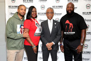 "(L-R) Sybrina Fulton, Jussie Smollett, Al Sharpton and Tracy Martin attend the Screening And Panel For ""Rest In Power: The Trayvon Martin Story"" at The Apollo Theater on July 29, 2018 in New York City."