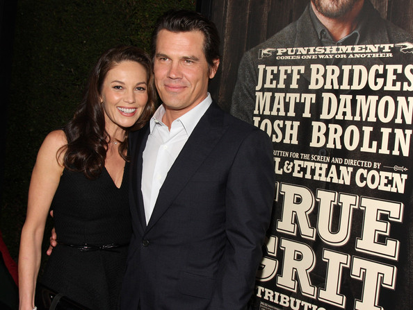Actors Diane Lane and Josh Brolin arrive at the screening of Paramount Pictures' 'True Grit' at the Academy of Motion Picture Arts and Sciences on December 9, 2010 in Beverly Hills, California.