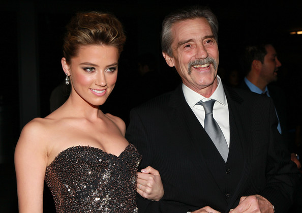 Photo of Amber Heard & her Father  David Clinton Heard
